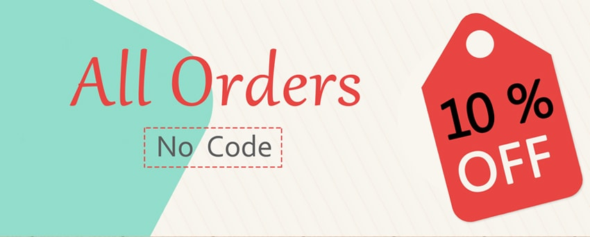 All orders 10% OFF